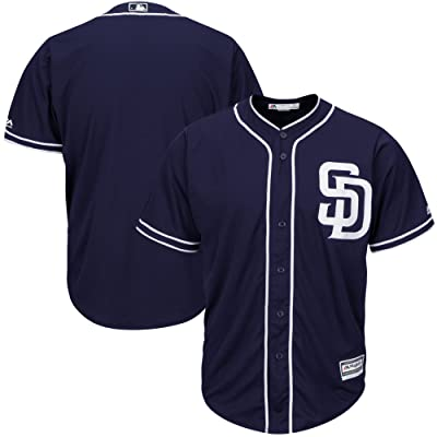 OuterStuff San Diego Padres Blank Navy Blue Youth Cool Base Alternate Jersey