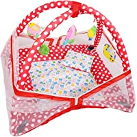 Novelty Baby Kick and Play Gym with Mosquito Net and Baby Bedding Set (Red)