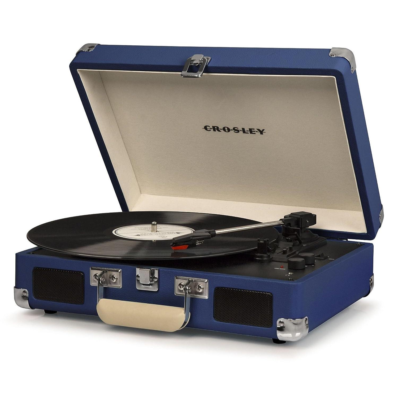 Crosley - Tocadiscos Portã¡Til Deluxe BT Azul