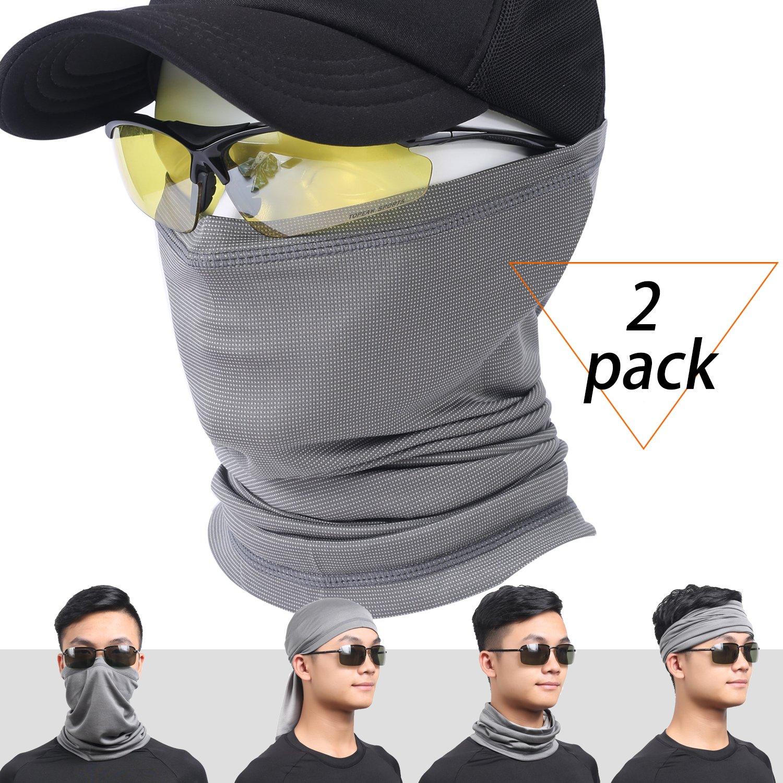 Qinglonglin Summer Face Mask Bandana - Sun UV Dust Protection Versatile Neck Gaiter, Breathable Windproof & Dustproof