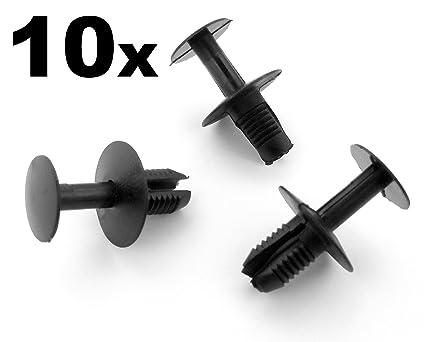 10 x 8mm Remaches Plástico - Pegatinas Clips, Paneles,Taloneras, Revestimiento