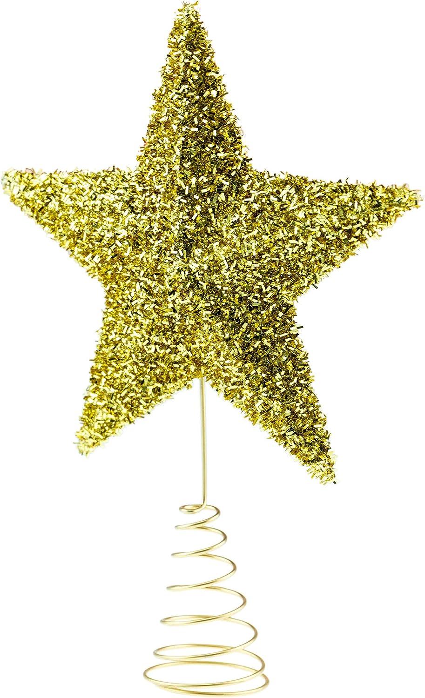 3D grand rouge paillettes éblouissantes Star Arbre de Noël décoration top topper