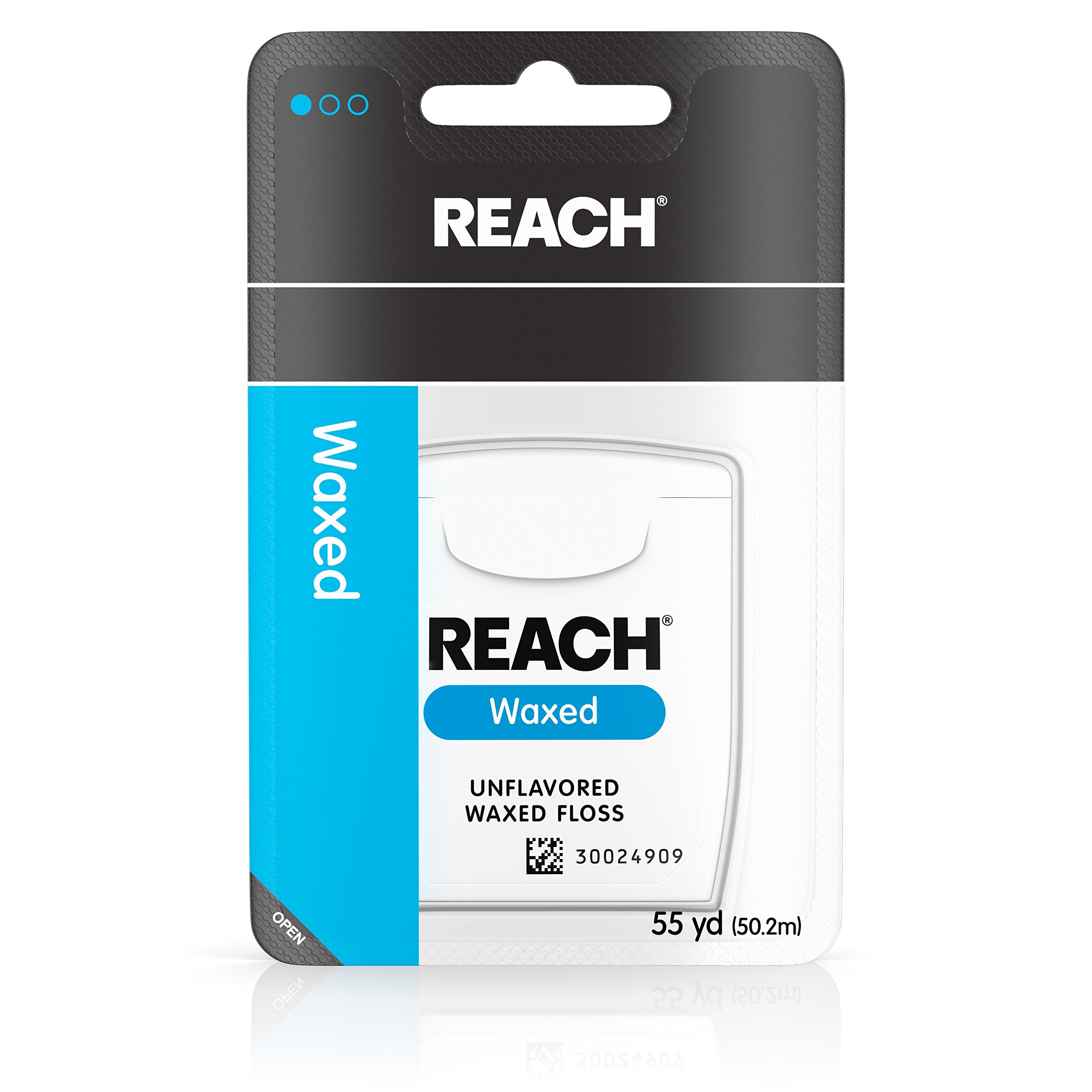 Reach Waxed Dental Floss For Plaque And Food Removal, Unflavored, 55 Yards