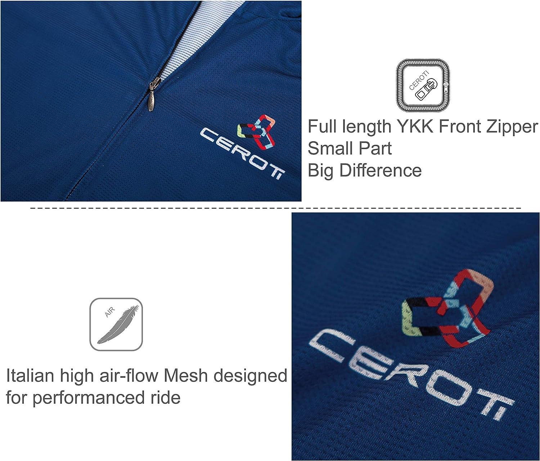 Bike Jersey UPF50+ CEROTIPOLAR Custom Apparel Service Mens Cool Summer Cycling Jersey