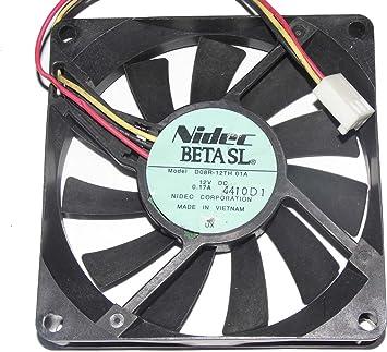 Zyvpee D08R-12TH12 - Ventilador refrigerador de 3 Cables (80 x ...