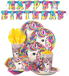 Amazon rainbow unicorn birthday party supplies pack bundle lisa frank rainbow majesty unicorn birthday party supplies pack serves 16 junglespirit Gallery