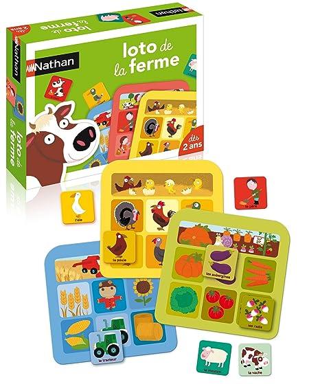 Nathan - 31040 - Jeu de société - Jeu éducatif - Loto Ferme  Amazon ... f94b939d88e3