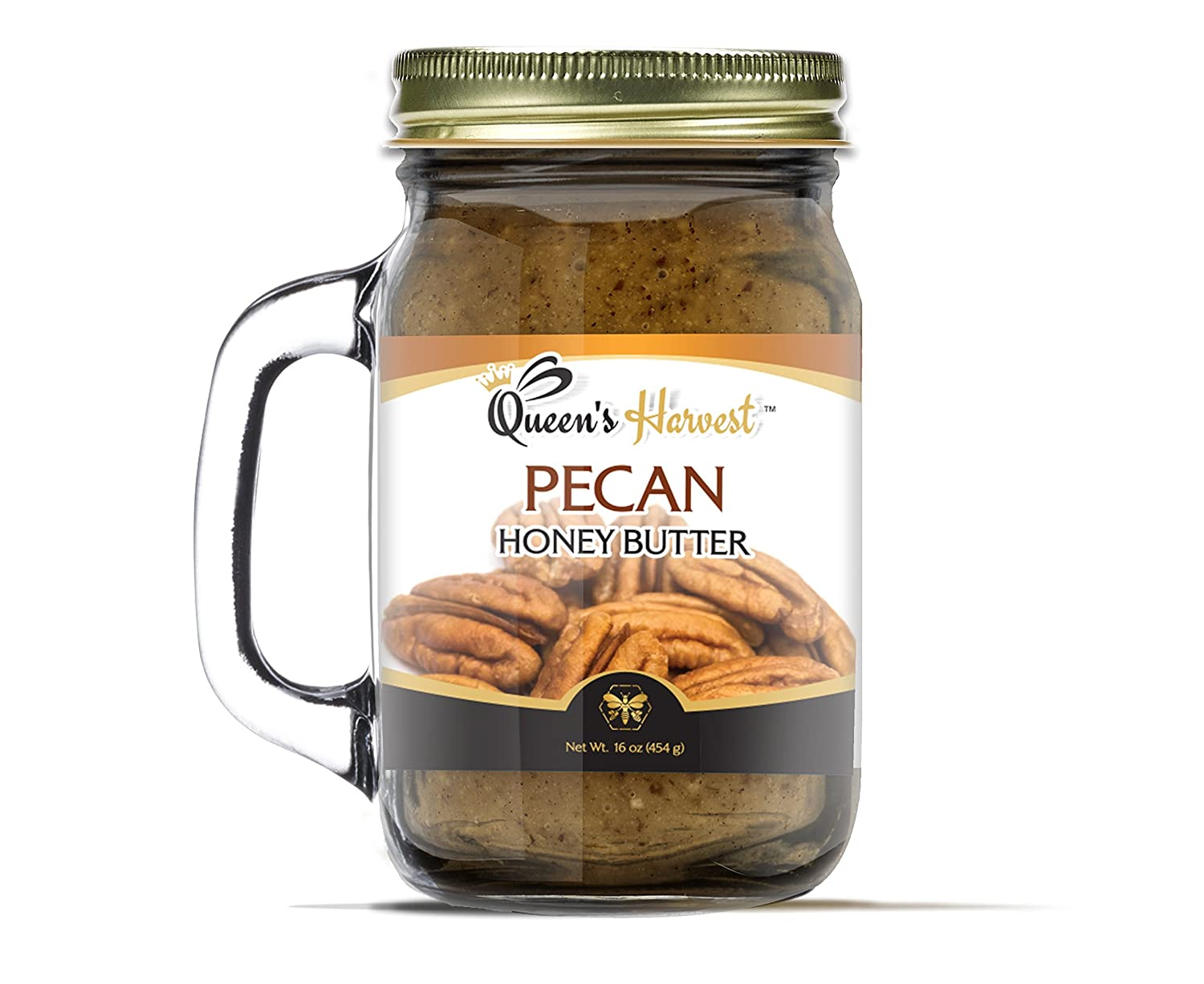 Queens Harvest Praline Pecan Honey Butter - 16 Ounce