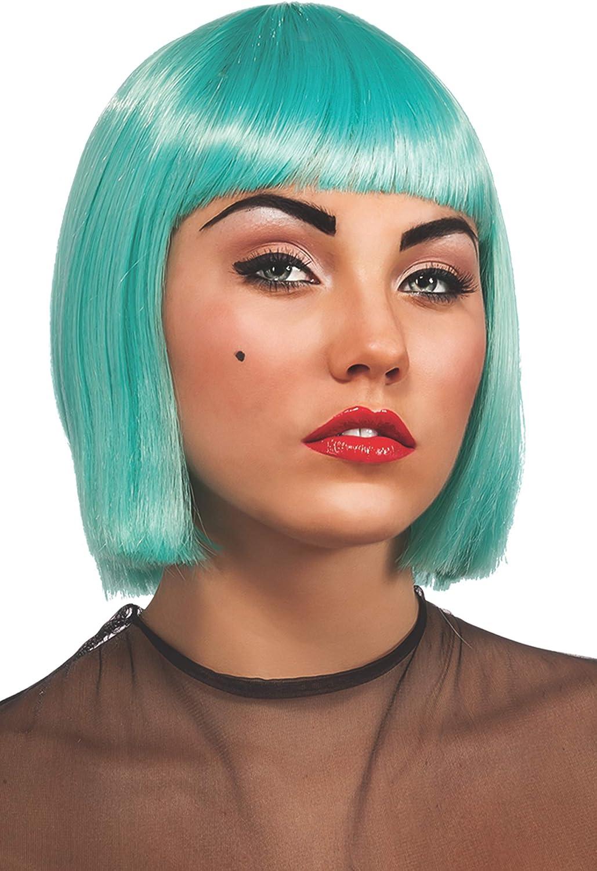 Peluca azul turquesa de Lady Gaga: Amazon.es: Juguetes y juegos