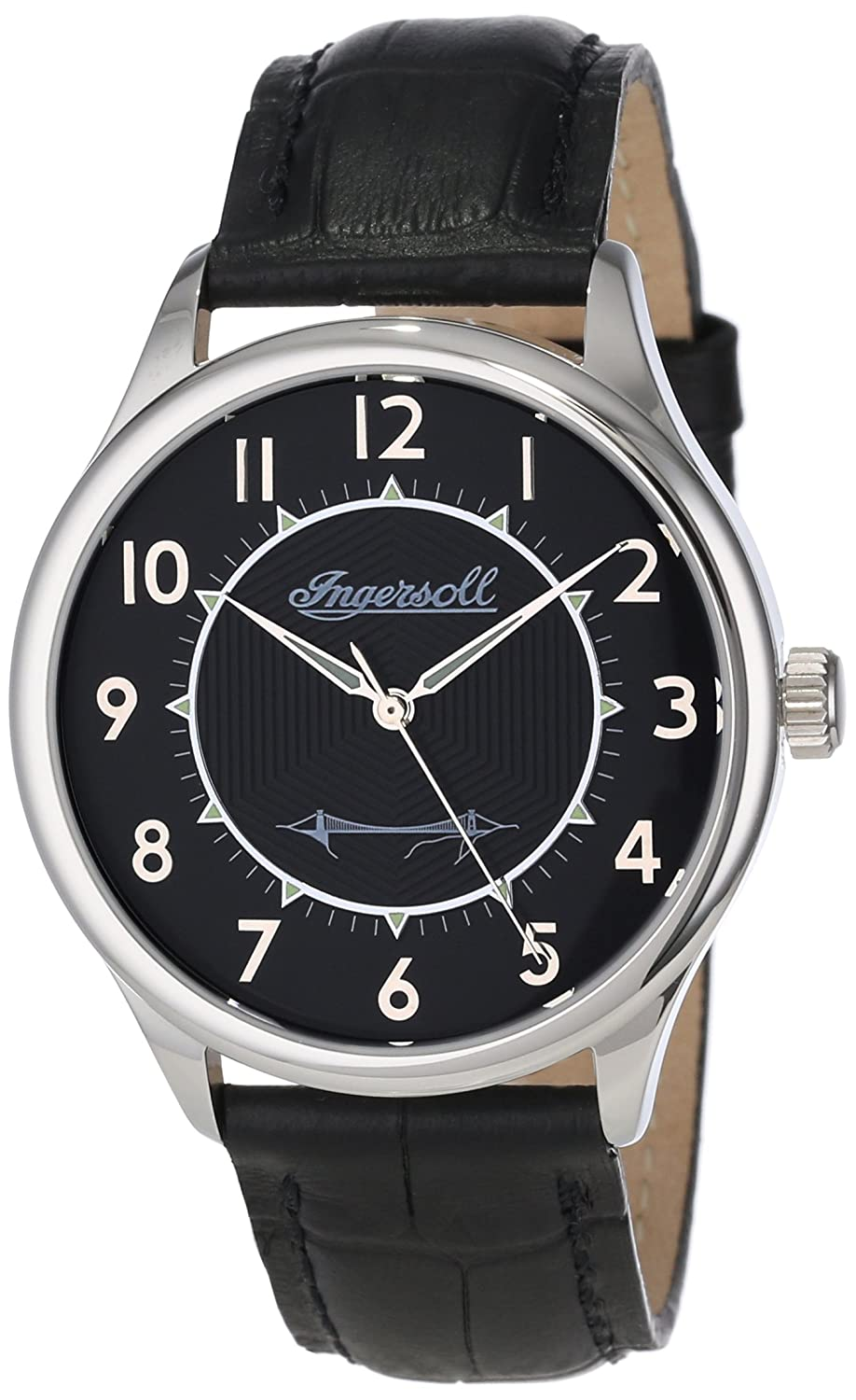 Ingersoll Mens INJA001SLBK Harry Clifton Limited Edition Mechanical Timepiece Silver Case Watch