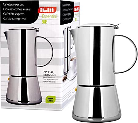 IBILI 620302 - Cafetera Express Essential INOX 2 Tazas: Amazon.es ...