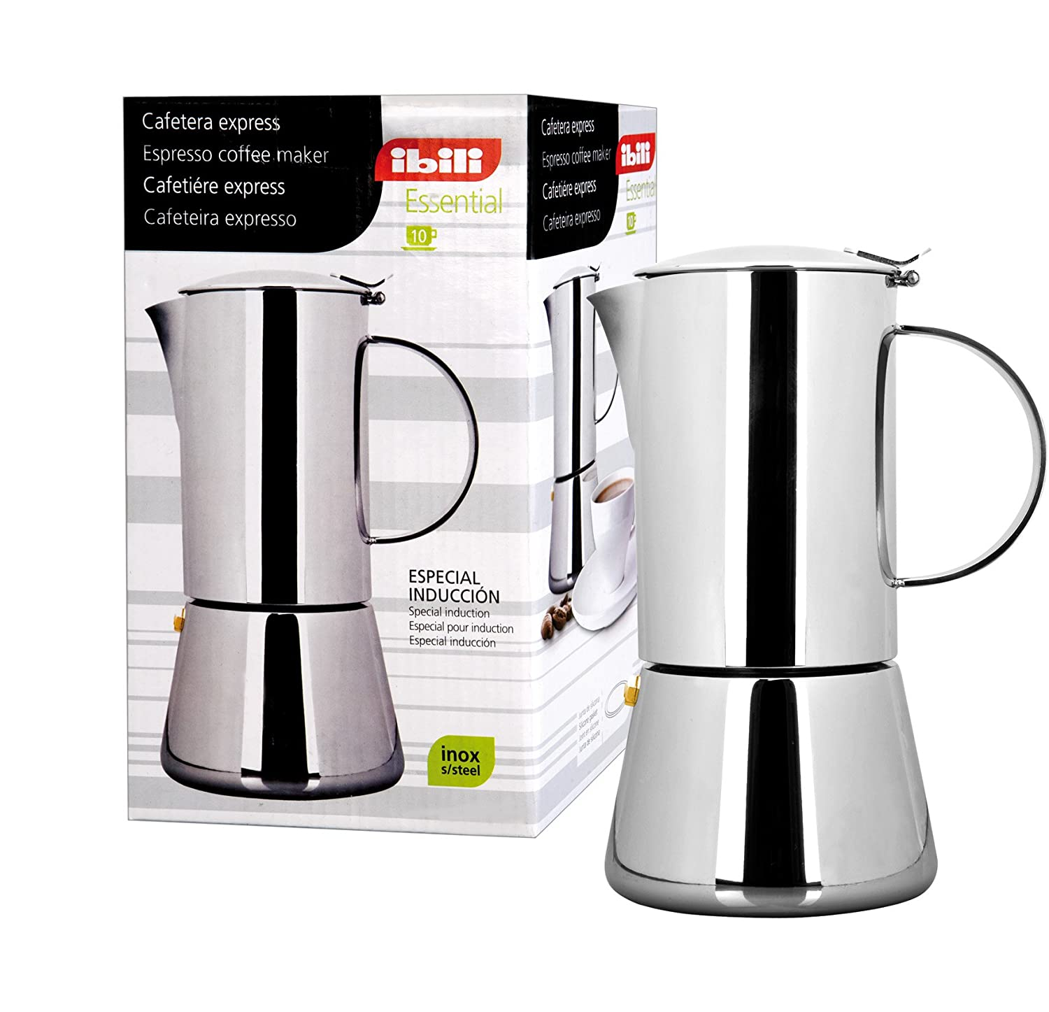 IBILI 620310 - Cafetera Express Essential INOX 10 Tazas: Amazon.es ...