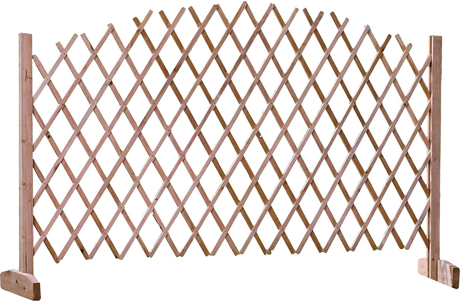 Wooden Expanding Garden Trellis Fence   180 X 30 X 105 Cm: Amazon.co.uk:  Kitchen U0026 Home