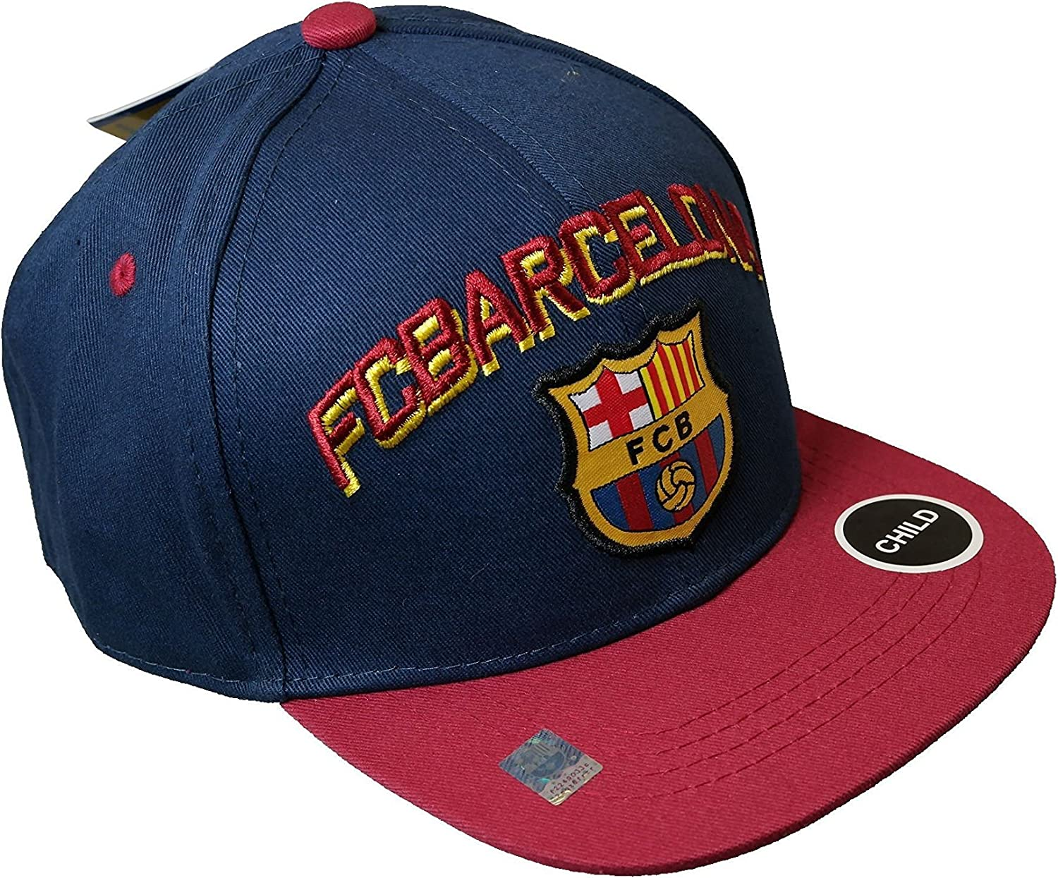 024 FCB One Size RHINOXGROUP Child FC Barcelona Authentic Official Licensed Soccer Cap