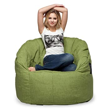 88bb6a1ff7 Ambient Lounge Butterfly Sofa Designer Bean Bag with Filling Lime Citrus  Interior Fabric  Amazon.co.uk  Kitchen   Home