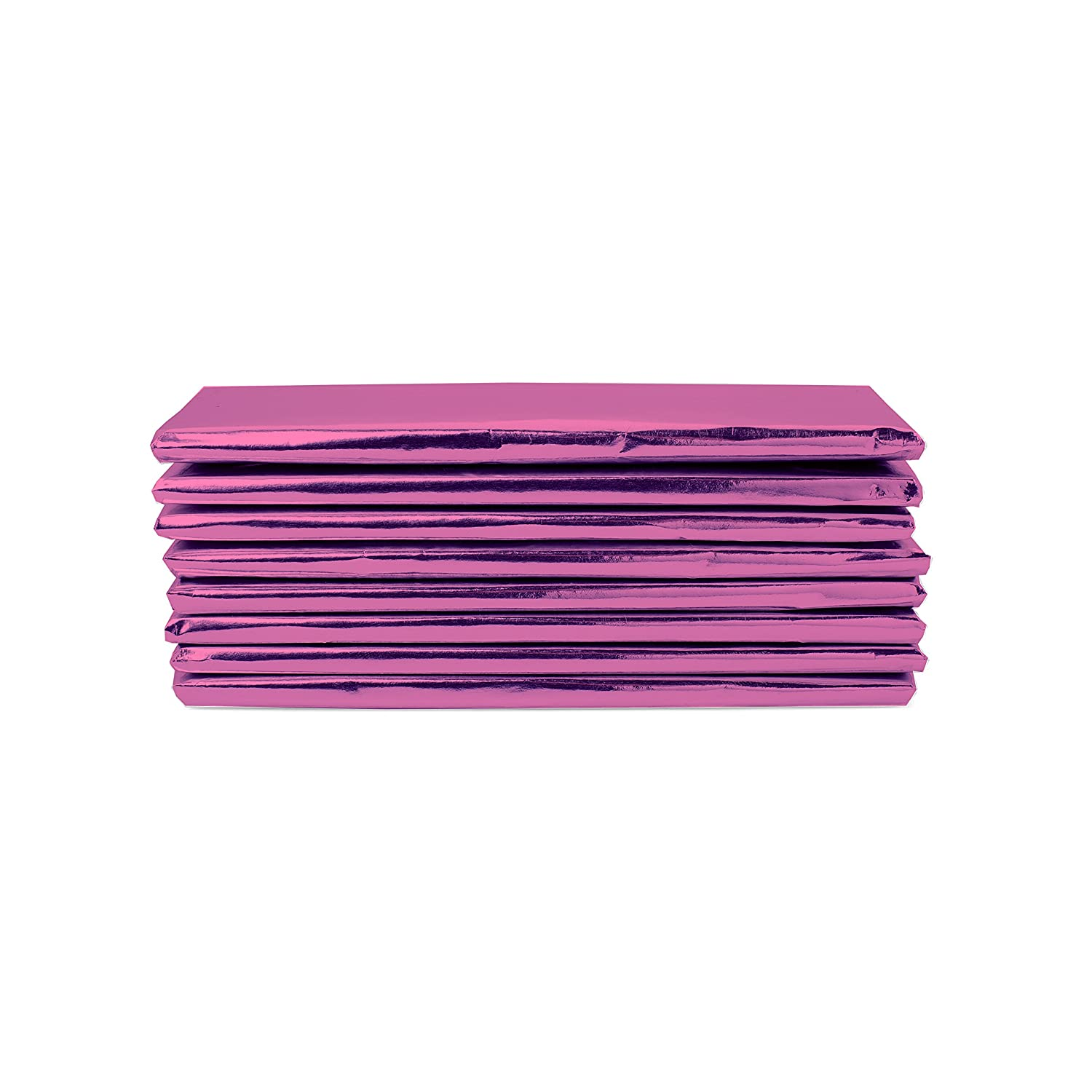 """Foil Wrapper (Pink) - Pack of 100 Candy Bar Wrappers with Thick Paper Backing - Folds and Wraps Well - Best for Wrapping 1.55Oz Hershey/ Candies/ Chocolate Bars/ Gifts - Size 6"""" X 7.5"""""""