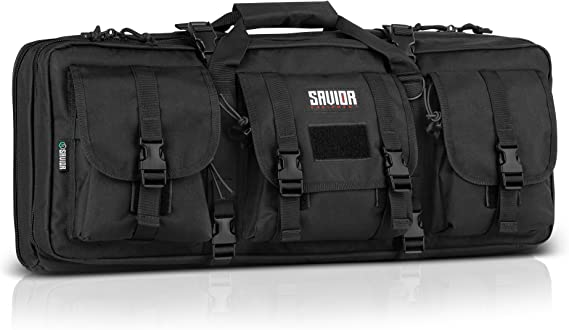 Savior Equipment American Classic Tactical Double Short Barrel Rifle Gun Case Firearm Bag - Suitable for Subgun Bullpups Carbine Shotgun SMG SBR AR AK Pistol