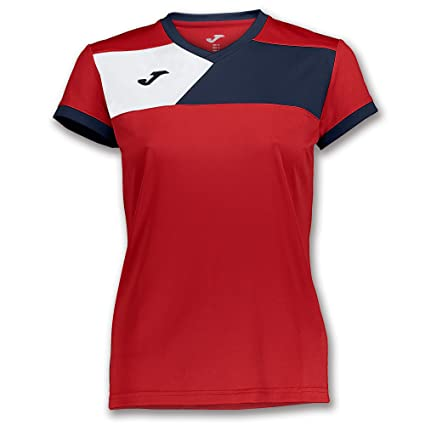 Joma Teamwear T-Shirt Short Sleeves Crew II Womens Red-Navy