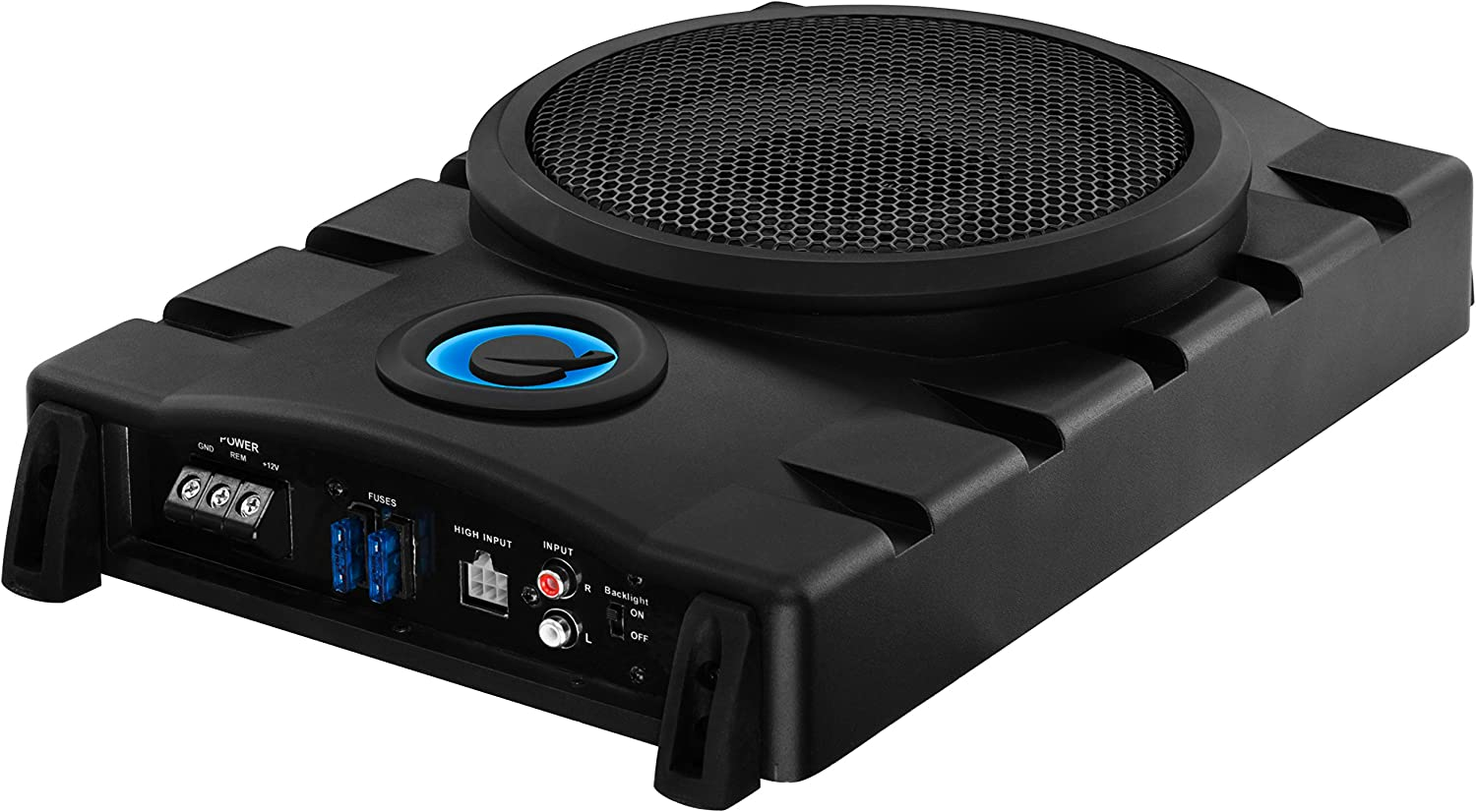 Planet Audio P8UAW 800 Watt Low Profile Amplified 10 Inch Subwoofer with Remote Subwoofer Control