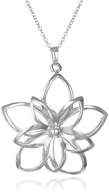 flower default plated star sterling zirconia n necklace pendant oversized premium gold silver main cubic eq