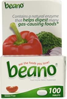 Beano - 150 comprimidos para eliminar gases y facilitar la ...