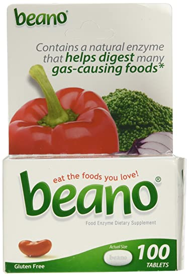 Amazon Beano Food Enzyme Dietary Supplement 100 Tabs Health
