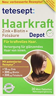 Tetesept Haarkraft Zinkbiotinfolsäure Ergänzungsmittel Mit Zink