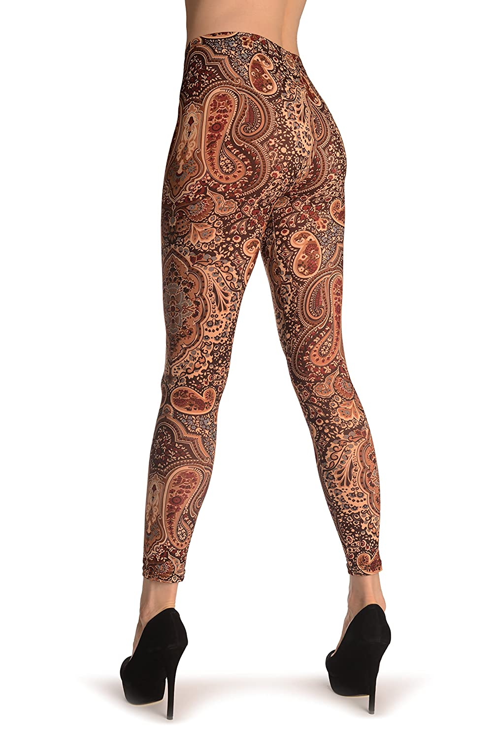 L002254 Maroon and Brown Paisley