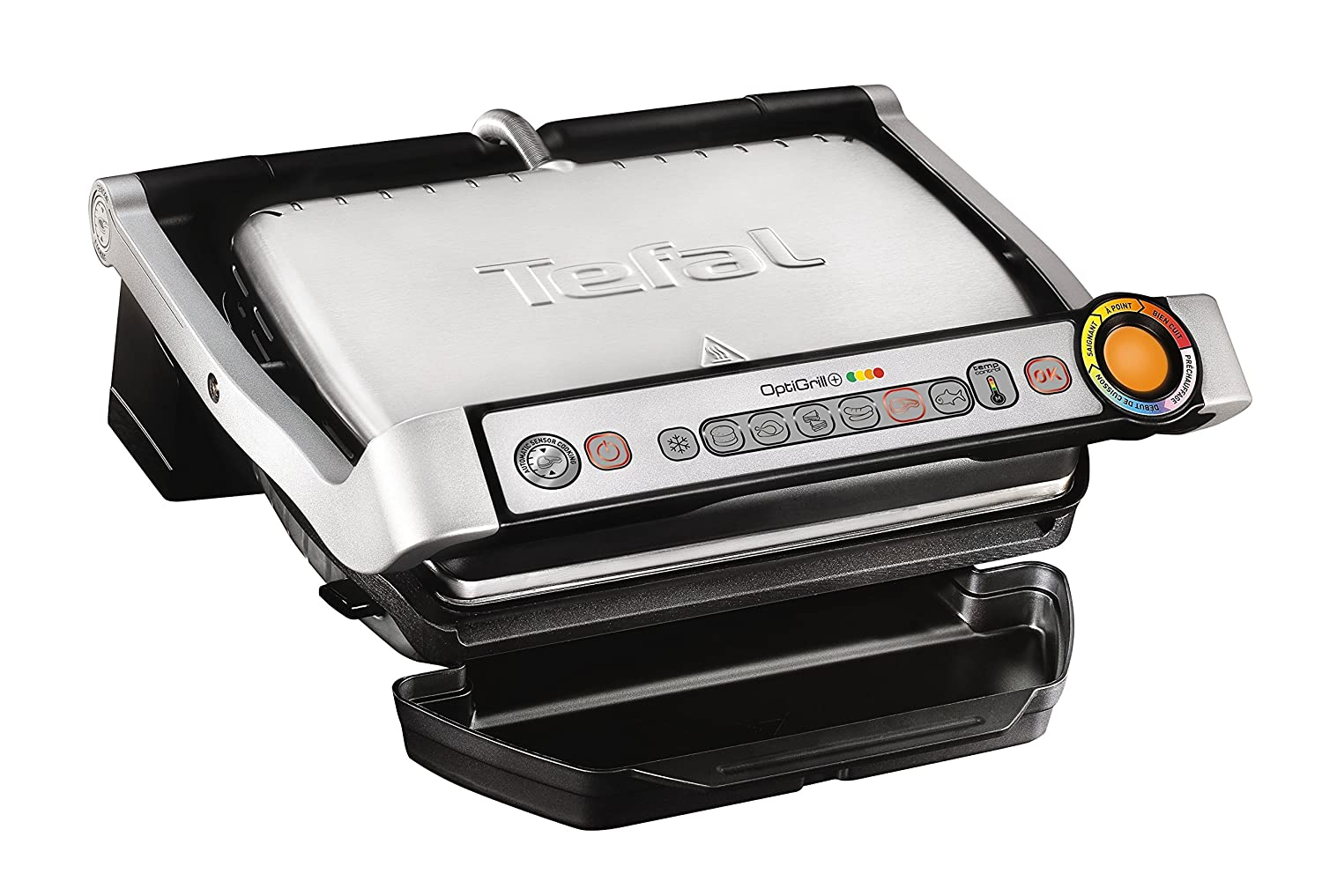 Tefal gc712d34 Grill Table Electric 2000 W 2000 W Titanium – Barbecue, Grill, Electric, 600 cm², Table, Grid)