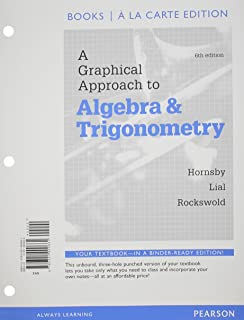 A graphical approach to algebra and trigonometry 6th edition john a graphical approach to algebra and trigonometry books a la carte edition 6th edition fandeluxe Image collections