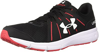 best authentic e3999 8151d Under Armour Men's UA Dash RN 2 Black/Red/White Athletic Shoe