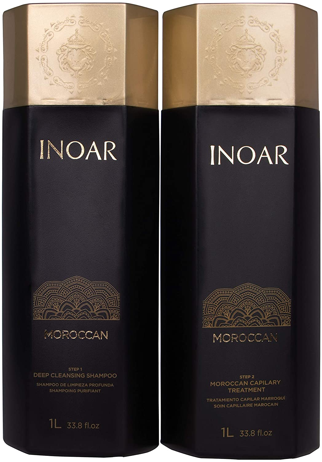 INOAR PROFESSIONAL - Smoothing System - Deep Cleansing Shampoo & Treatment Set (33.8 fl. oz.)