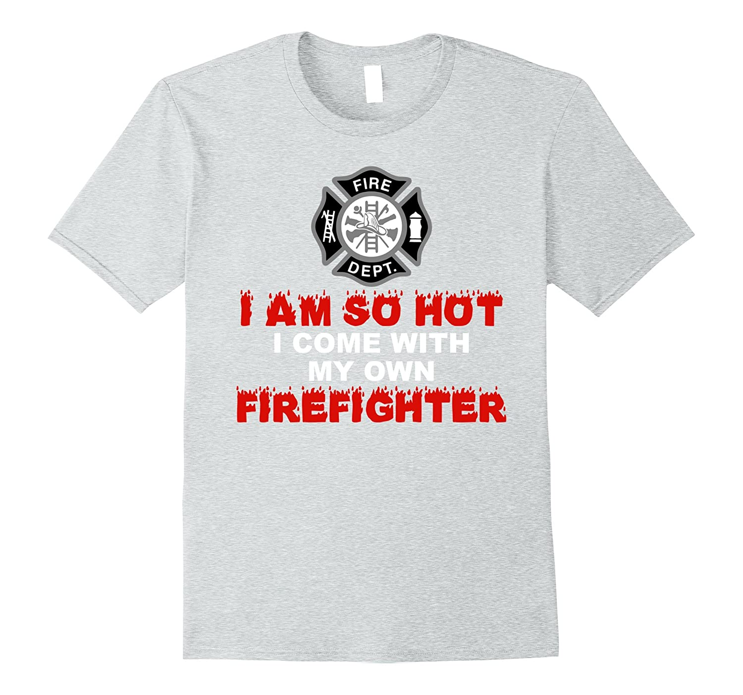 7220c3ae Firefighter Girlfriend or Wife Shirt-PL – Polozatee