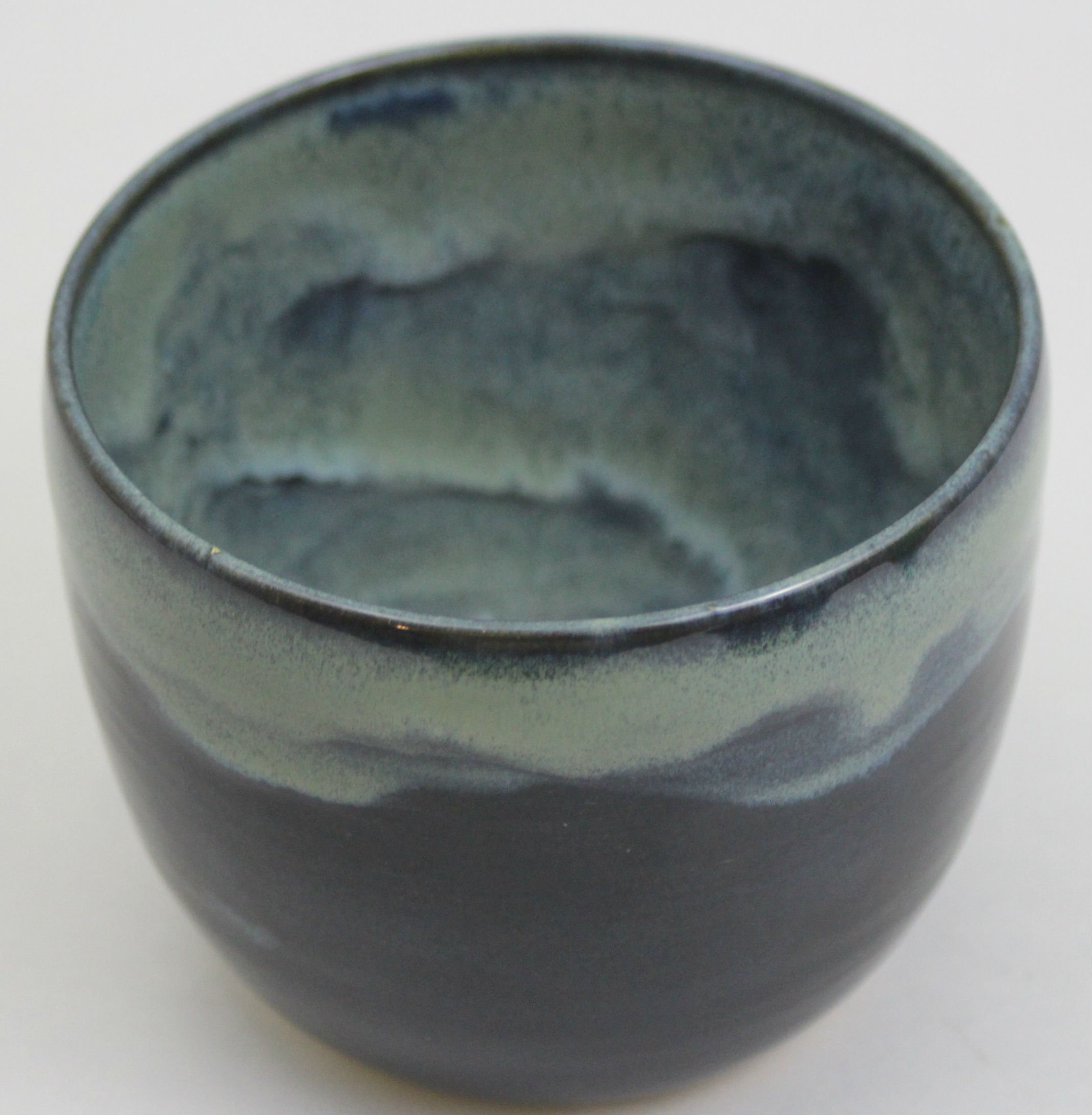 Chawan Matcha Tea Bowl for Matcha Tea Ceremony Drinking Matcha Tea Handcrafted in Vermont (Partial Turq Mix)