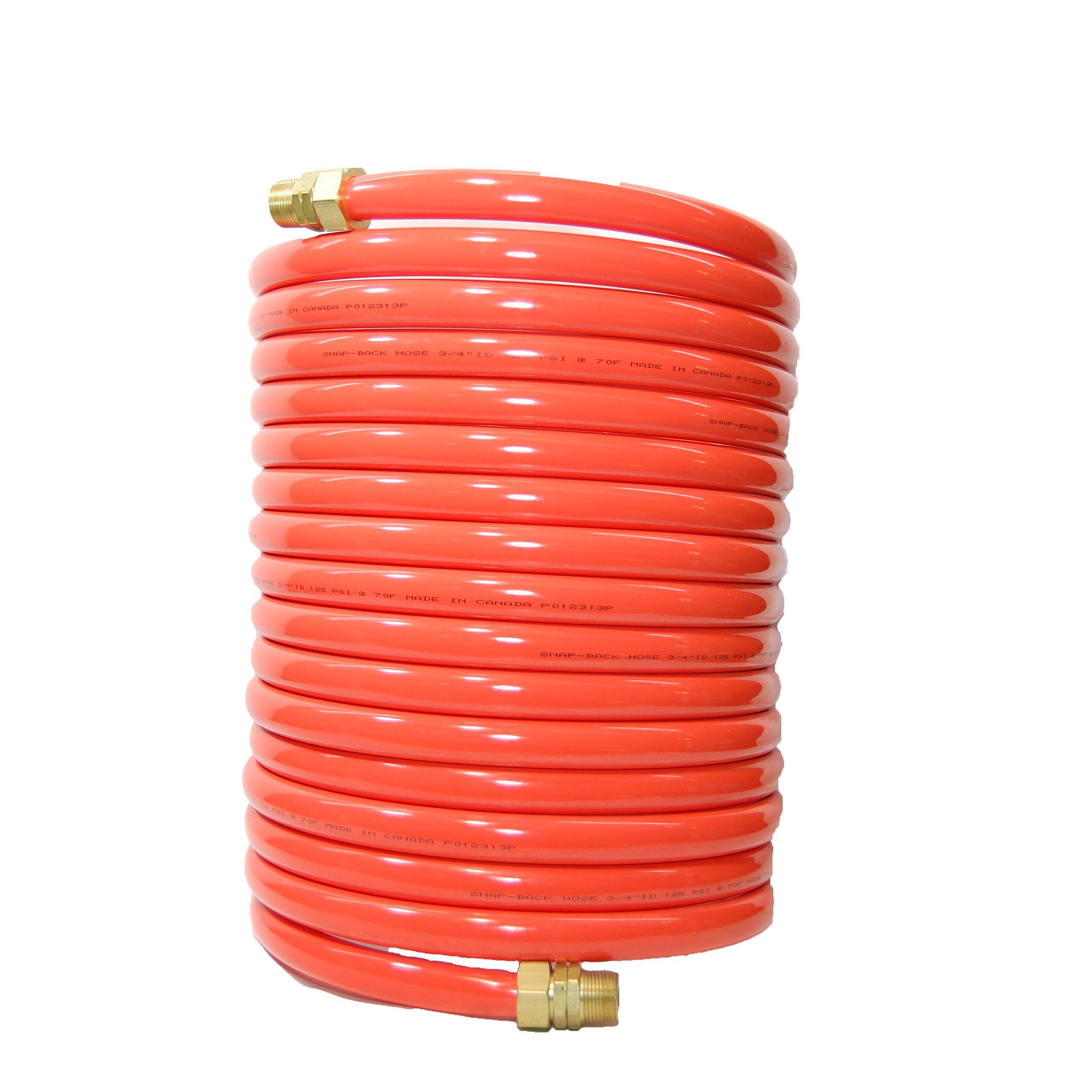 Plastair Industrial SBH950-91-6-U Copolymer Snapback Recoil Air Hose, 50' Length, 0.875'' Coil OD, 185 PSI Maximum Pressure, 0.75'' Coil ID