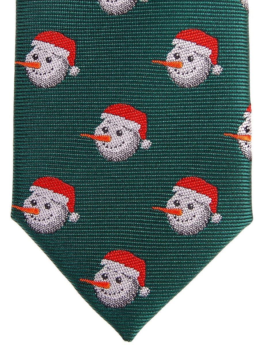 couleurs vari/ées 11,4/cm cravate tiss/ée de No/ël /à motif de bonhomme de neige Retreez