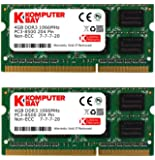 Komputerbay 8GB (2x 4GB) DDR3 SODIMM (204 pin) 1066Mhz PC3 8500 8GB