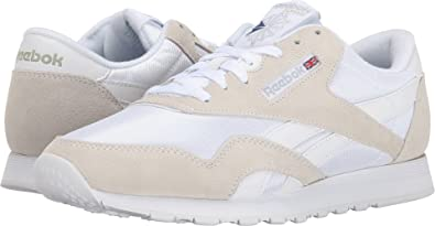 7beff29884a Image Unavailable. Image not available for. Color  Reebok Lifestyle Men s  Classic Nylon White Light Grey ...