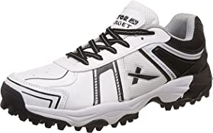 Vector X Target Cricket Shoes (White-Black) Cricket Footwear at amazon