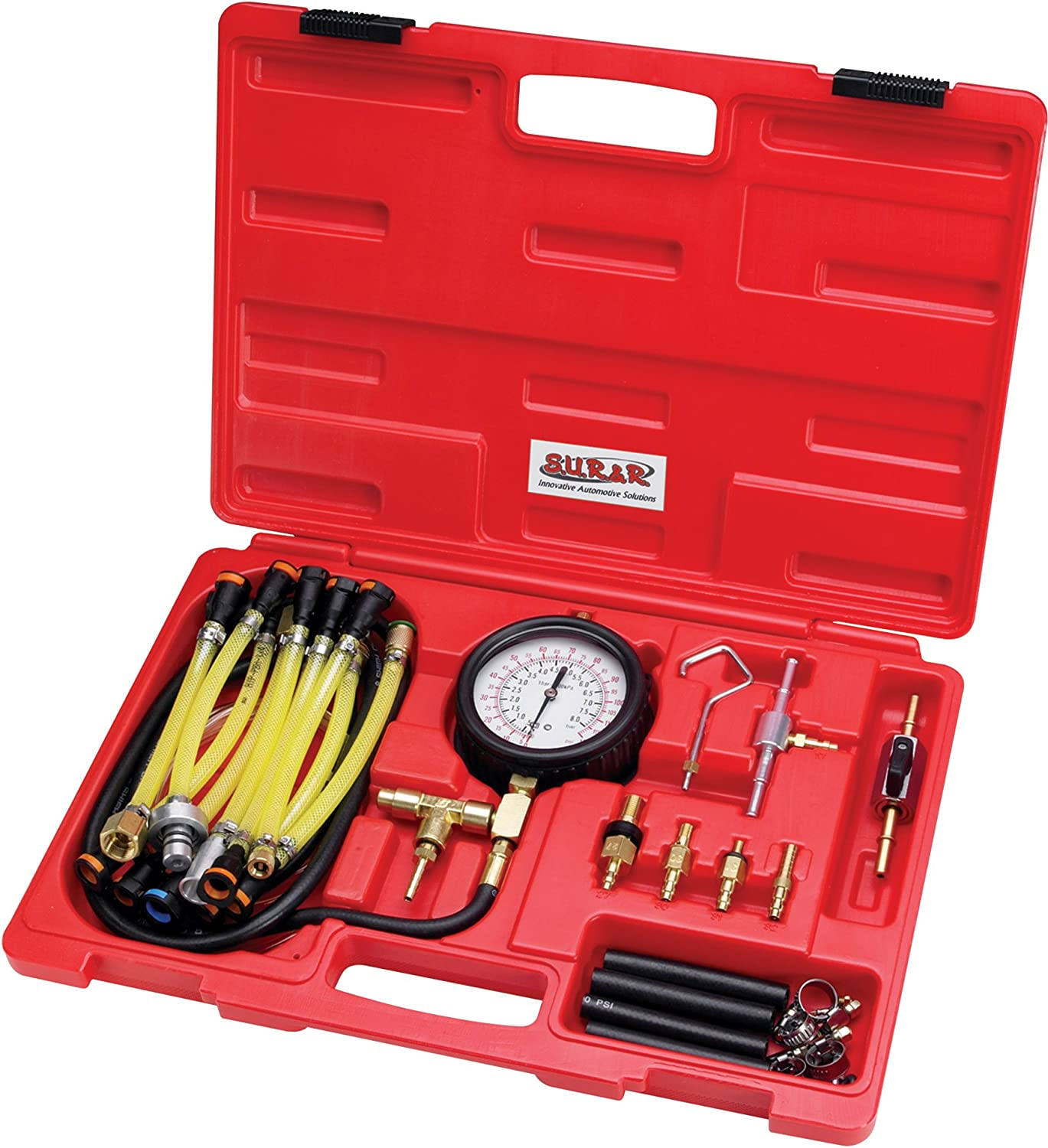 30 Piece /& R FPT22 Deluxe Fuel Injection Pressure Tester Kit S.U.R