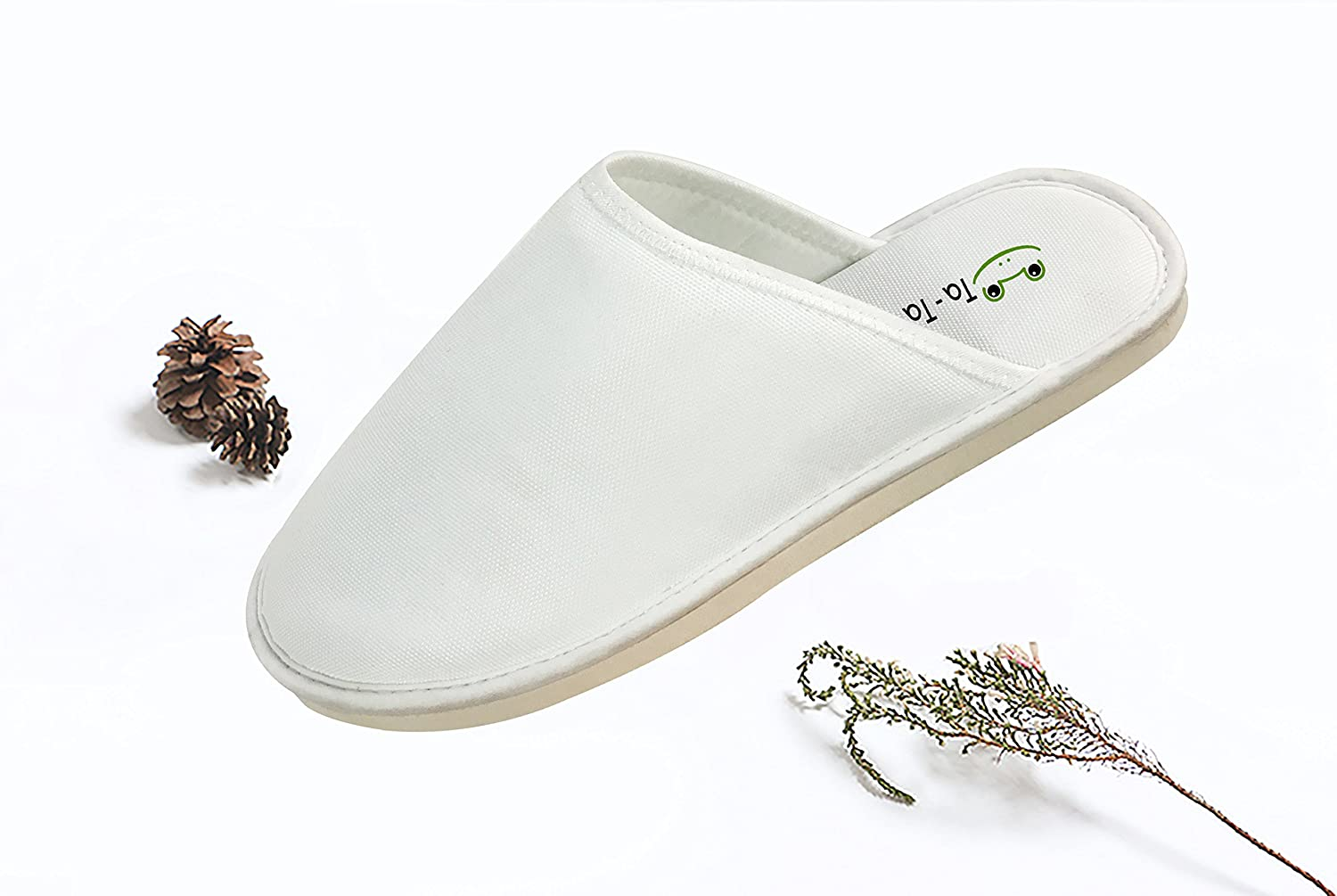 KOUY Salty Avocado Closed Toe Cotton Slippers Warm Soft Indoor Shoes Non-watertight