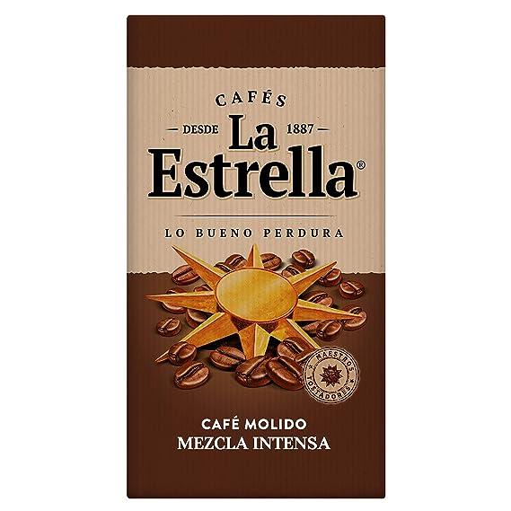 La Estrella Café Molido de tueste naturaly torrefacto - Paquete de 8 x de 250 g