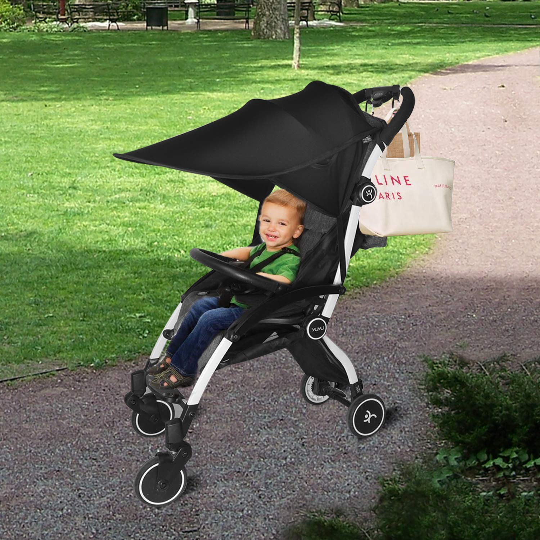 2X Buggy Clips Pram Hooks for Pushchair Shopping Bag Handbag Change Bag Carabiner Hook HIFOT Universal Stroller Sun Shade Canopy Buggy Sun Shade Anti-UV Pushchair Sunshade Adjustable Pram Sun Shade