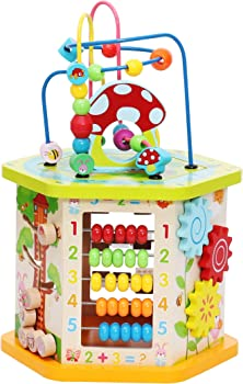 LAVIEVERT 9-in-1 Activity Cube For Babies