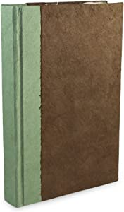 Nepali Namaste Writing & Prayer Journal with Handmade Vintage Lokta Paper & Vegetable-Dyed Hardcover, Made in The Himalayas of Nepal, 6x9 inches, Walnut