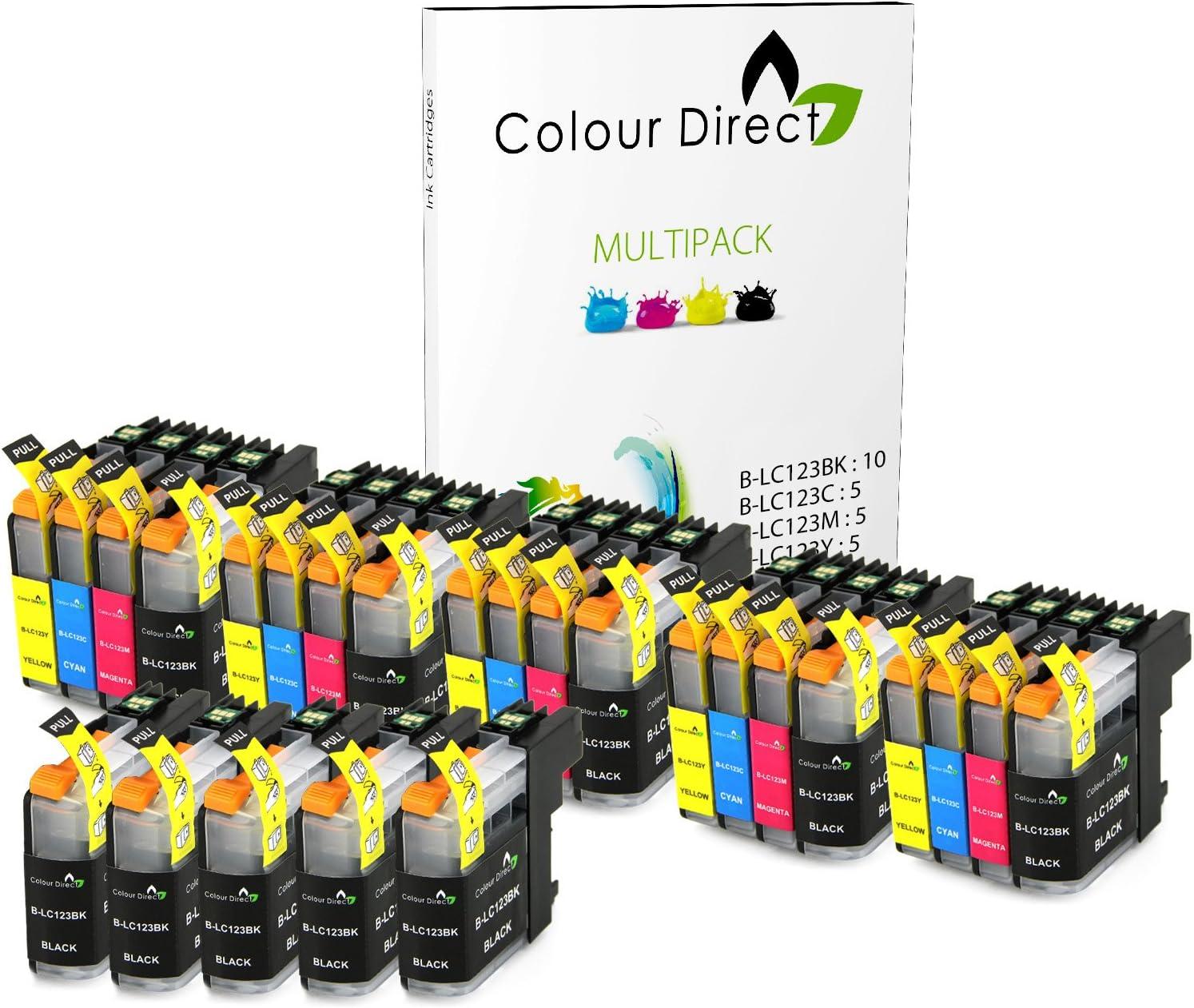25 XL (5 juegos + 5 Negro) Colour Direct Cartuchos de tinta ...