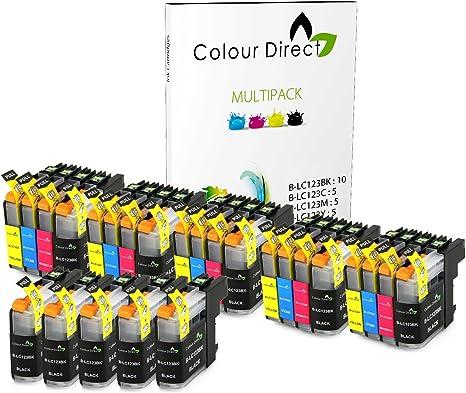 Colour Direct Cartuchos de tinta Reemplazo Para Brother LC123