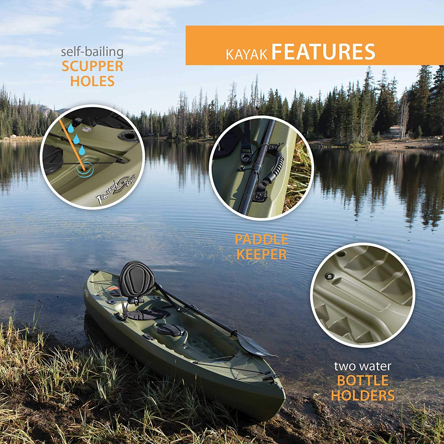 Lifetime Tamarack Angler Sit-On-Top Kayak 5