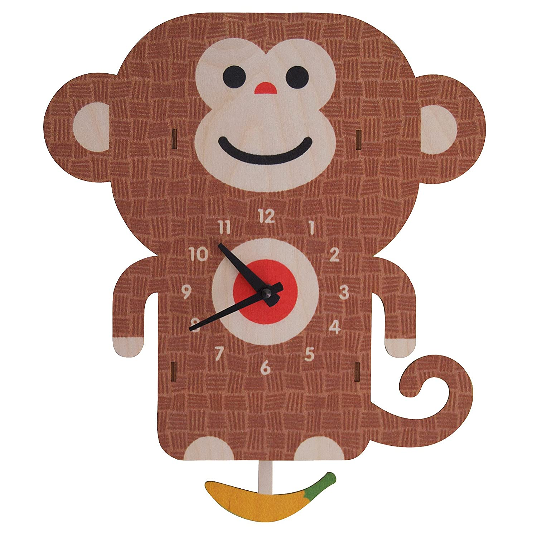 modern moose(モダン ムース) 3D ウォール クロック 壁掛け時計 手作り 振り子 サル B00N3PNYNE