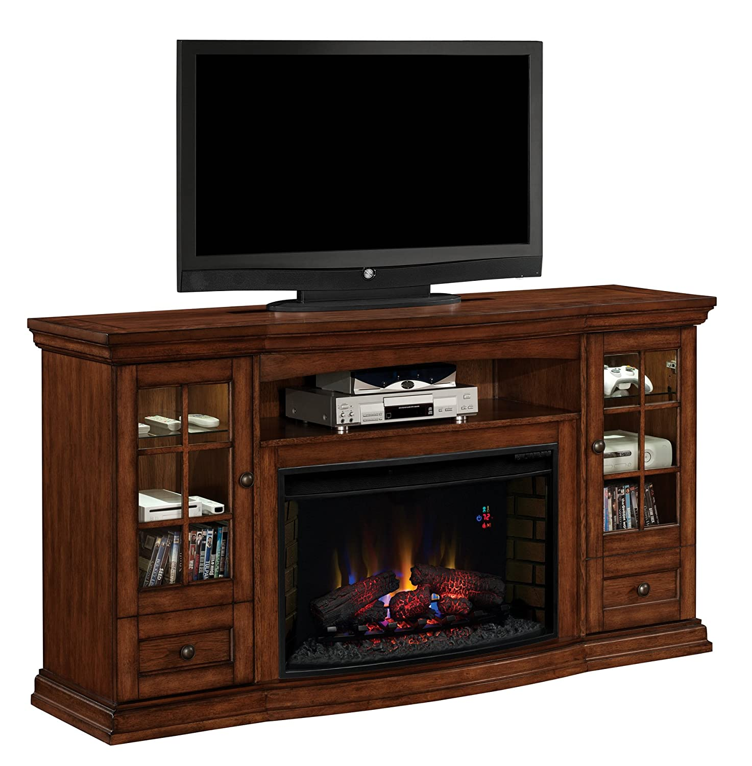 Superb Classicflame 32Mm4486 P239 Seagate Tv Stand For Tvs Up To 80 Pecan Electric Fireplace Insert Sold Separately Download Free Architecture Designs Scobabritishbridgeorg